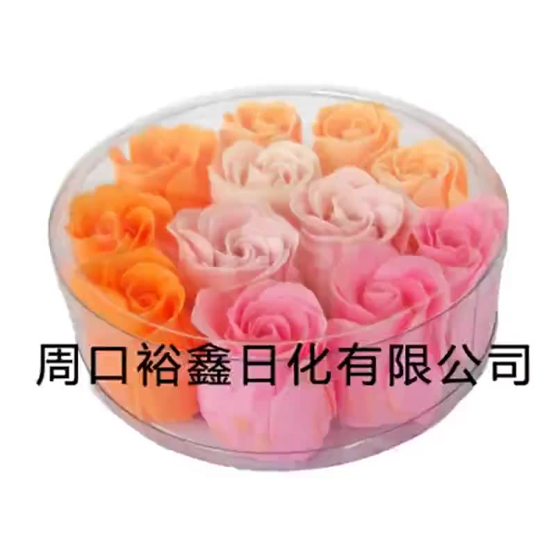 The manufacturer produces and processes 12 soap flower gifts, cleaning, moisturizing and moisturizin