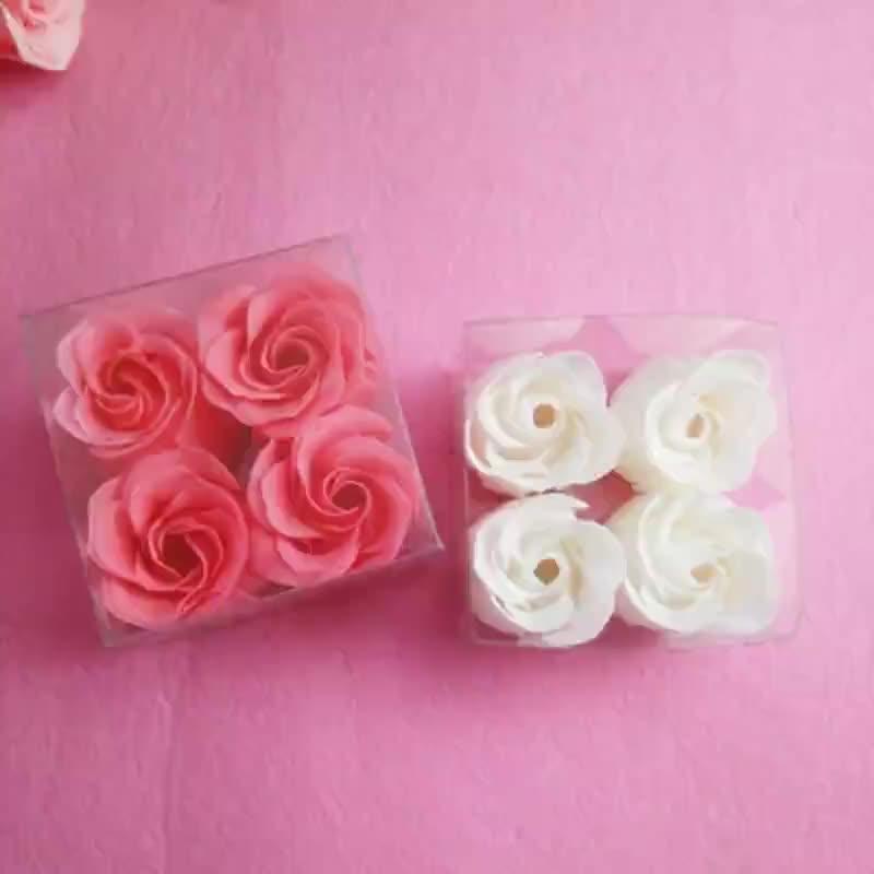 The manufacturer processes square box soap flower rose paper soap Festival wedding gift soap tablets