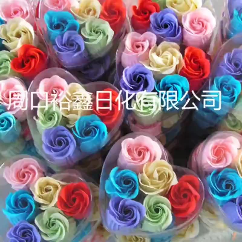 Manufacturer processing gifts 6 boxed paper soap moisturizing soap flowers moisturizing multi color