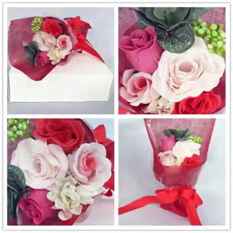 Manufacturers supply paper soap flower combination bouquet processing festival gifts customized hand